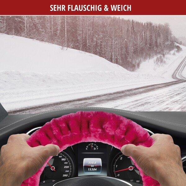 Lenkradhülle Teddy Plüsch pink