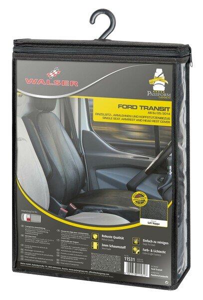 Autoschonbezug Transporter aus Kunstleder für Ford Transit, Einzelsitz Fahrer