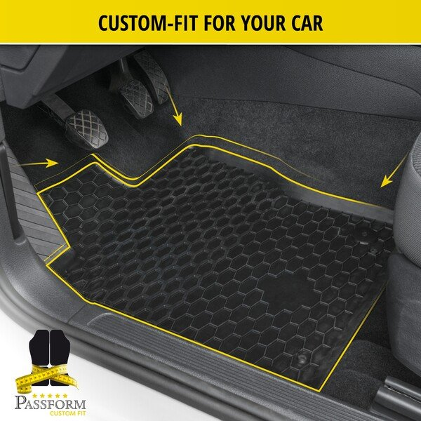 Rubber mats RubberLine for Opel Grandland X (A18) 2017-Today, Peugeot 3008 SUV 2016-Today, Citroen C5 Aircross 2018-Today