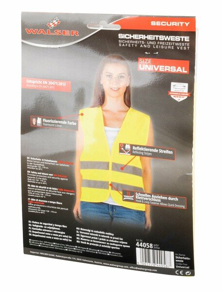 Gilet de sécurité, gilet haute visibilité de taille universelle pour adultes jaune