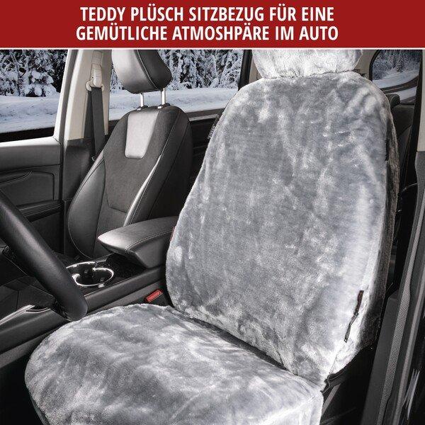 Autositzbezug Teddy aus Kunstfell vegan silber