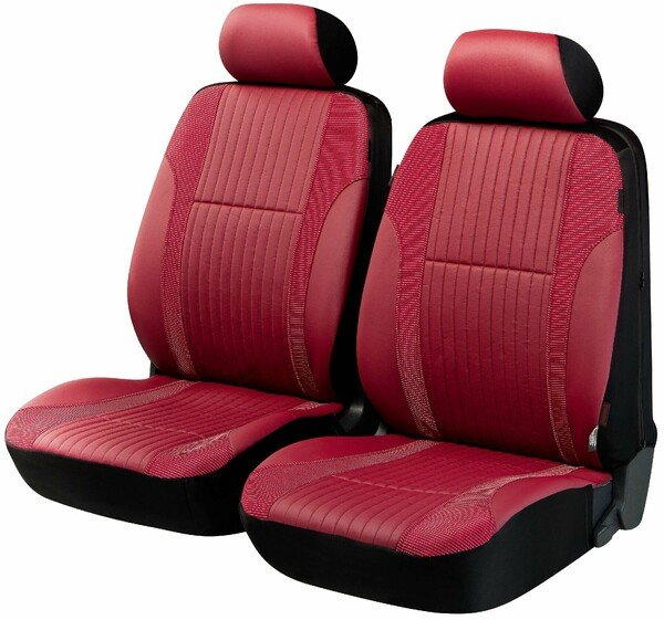 ZIPP IT Deluxe Medway car Seat covers in imitation leather for two front seats with zipper system