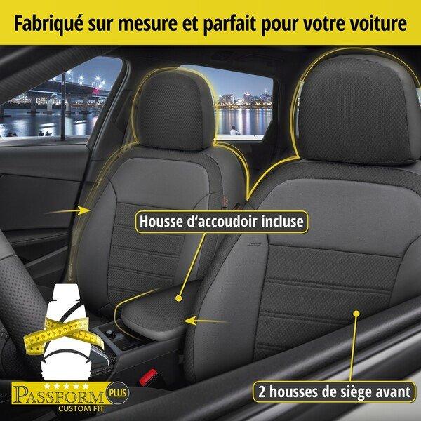 Housse de siège Aversa pour BMW X3 (F25) année 09/2010-08/2017, 2 housses de siège pour sièges normaux