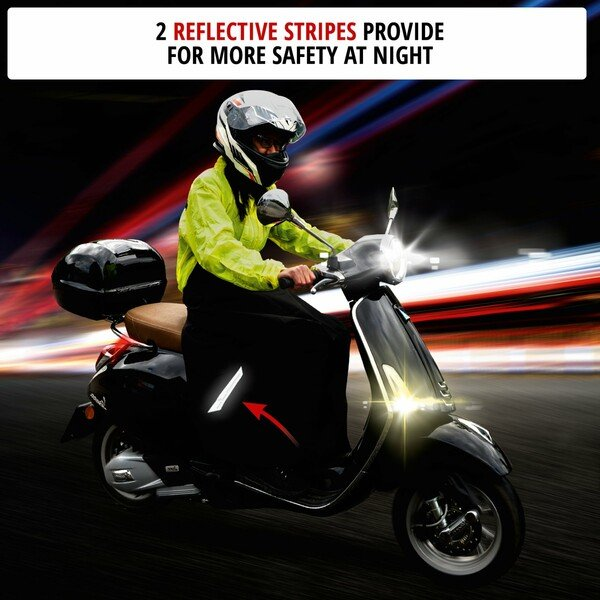 Wetness protection for scooter and moped riders universal