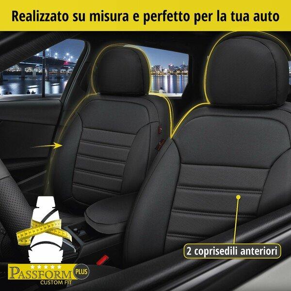 Coprisedili Robusto per Fiat Grande Punto (199) anno 06/2005-Oggi, 2 coprisedili per sedili normali