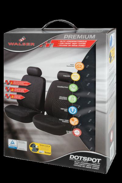 Housses de sièges DotSpot gris noir Premium pour deux sièges avant