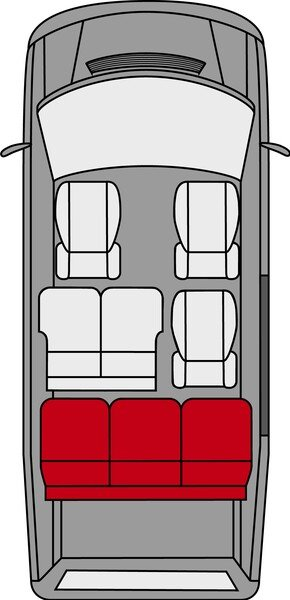 Transporter Seat covers made of polyester for VW T5, bench of 3