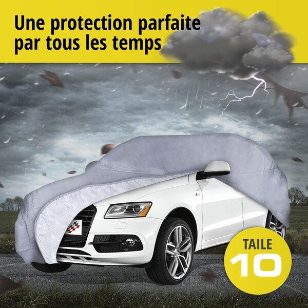 Bâche pour voiture All Weather Premium taille 10 grise