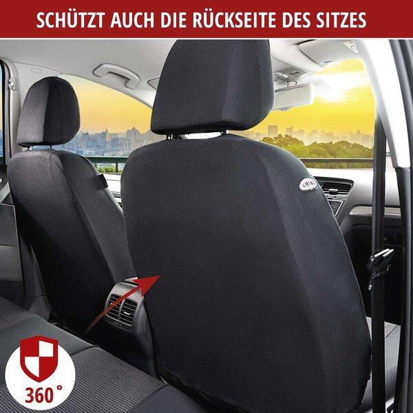 Autositzbezüge Pineto grau für zwei Vordersitze