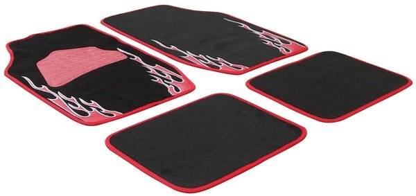 Tapis de voiture Volcano flame design red
