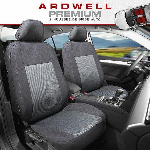 ZIPP IT Premium Housse de sièges Ardwell pour deux sièges avant avec système de fermeture éclair noir/gris