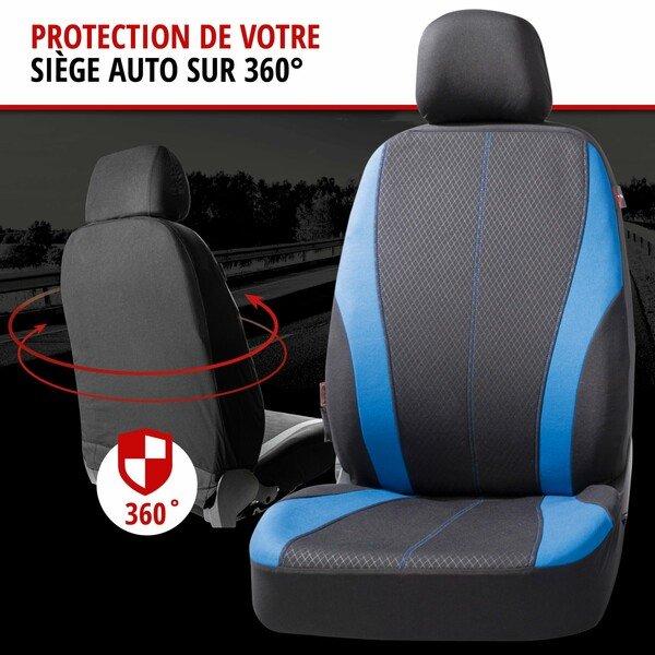 ZIPP IT Housse de sièges Dundee complet avec système de fermeture éclair noir/bleu