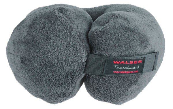 Travelmaid bolster travel pillow for adults made of soft fleece anthracite