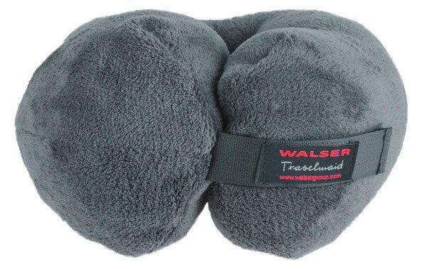 Travelmaid Nackenrolle Reisekissen für Erwachsene aus weichem Fleece anthrazit