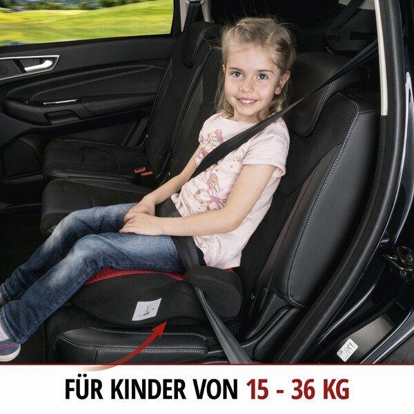 Kindersitzerhöhung Lino schwarz/rot