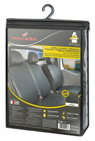 Car Seat covers for Opel Vivaro, Renault Traffic and Nissan Primastar single seat and double bench synthetic leather soft
