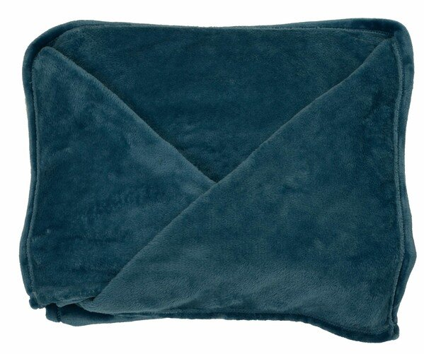 Snuggle blanket Snuggle fleece blanket with sleeves blue