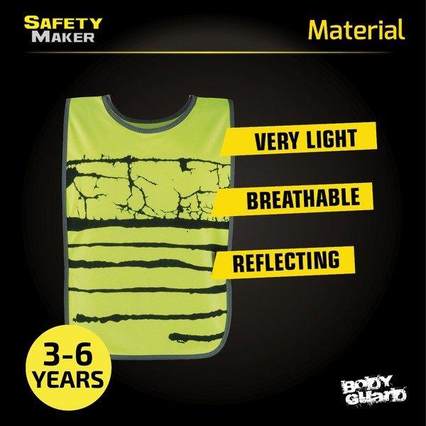 Reflective children's vest yellow