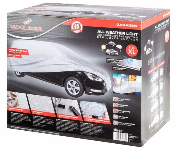 Car tarpaulin All Weather Light SUV full garage size XL light grey