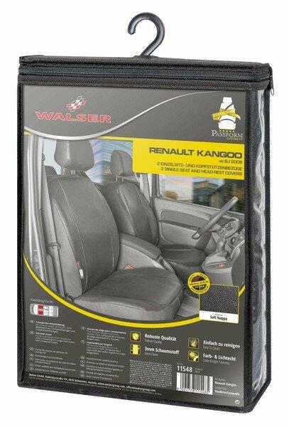 Autoschonbezug Transporter aus Kunstleder für Renault Kangoo Typ W, 2 Einzelsitz vorne
