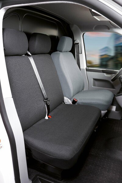 Transporter Coprisedili in tessuto per VW T6, doppia panca anteriore