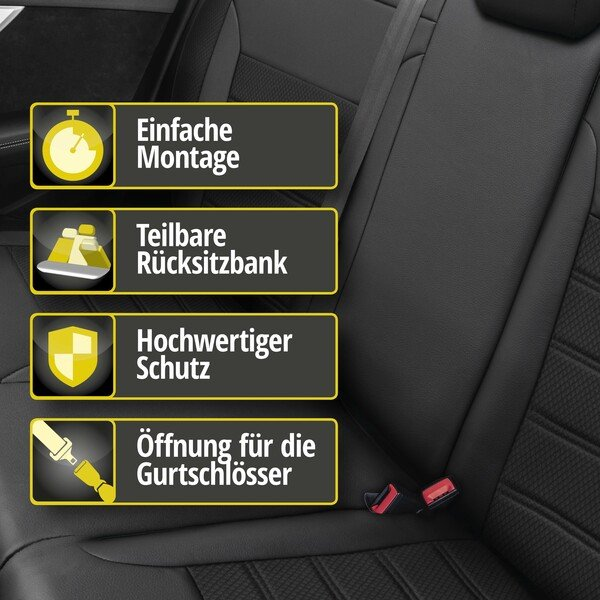 Passform Sitzbezug Aversa für Mini Cooper 06/2001 - 01/2014, 1 Rücksitzbankbezug für Normalsitze