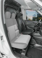 Car Seat cover Transporter made of imitation leather for Fiat Doblo 2, single seat driver