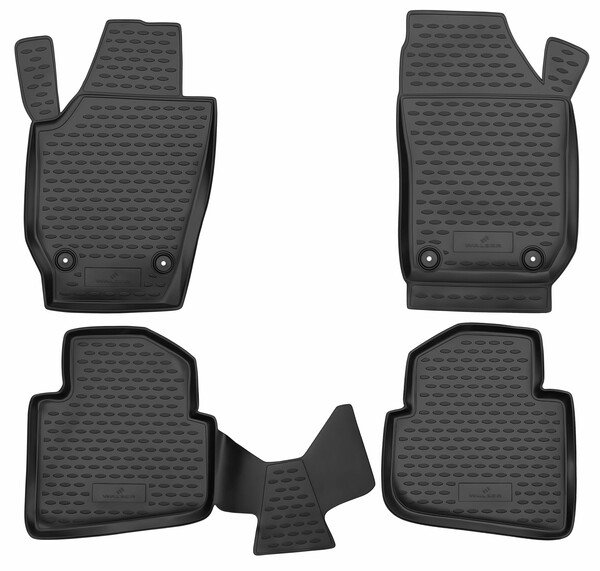 XTR rubber mats for Skoda Roomster year 03/2006 - 05/2015