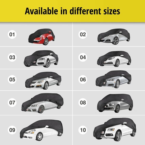 Car tarpaulin Indoor Soft size 8 black
