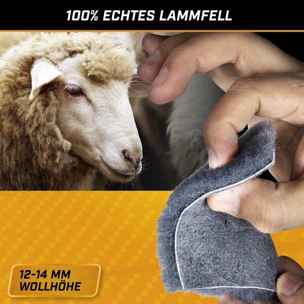 PKW Sitzauflage aus Lammfell Cosmo anthrazit 12-14mm Fellhöhe