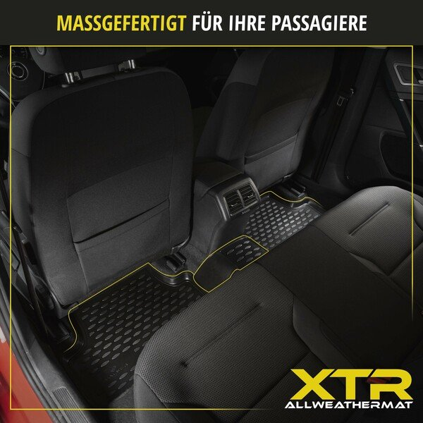 Gummimatten XTR für Audi A4 BJ 05/2015 - Heute, A4 Avant BJ 08/2015 - Heute, A4 Allroad BJ 01/2016 - Heute