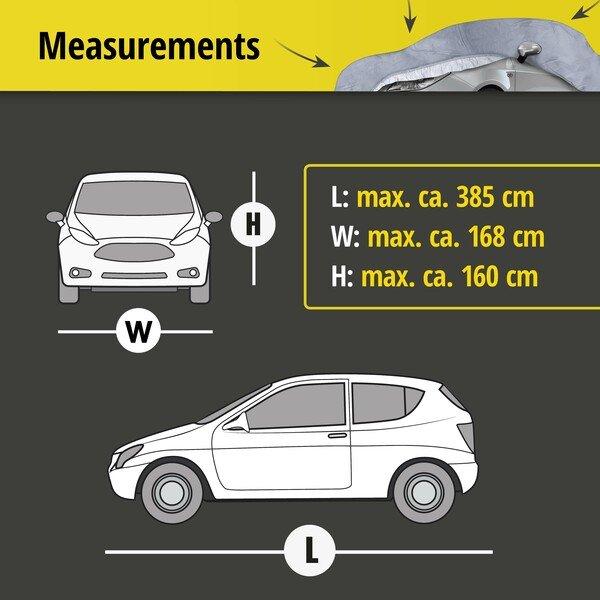 Car tarpaulin All Weather Premium size 2 grey