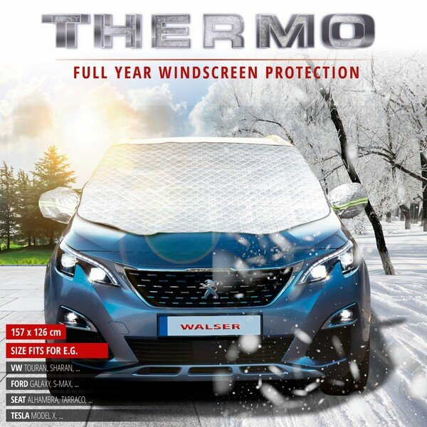 Premium Thermal Windscreen Protector with Side Mirror Cover 157x126 cm