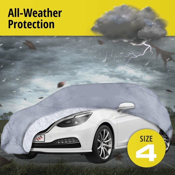 Car tarpaulin All Weather Premium size 4 grey