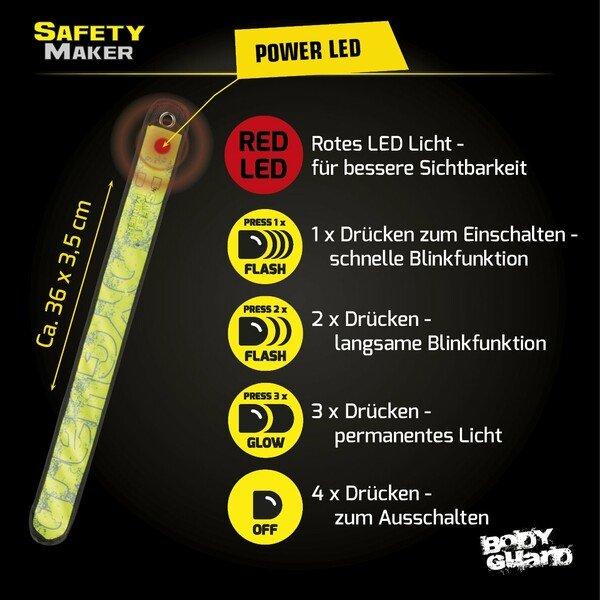 LED Klackband gelb
