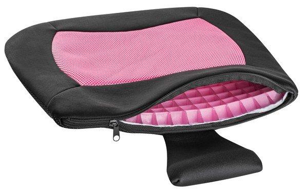 Coussin de siège Cool Touch noir-rose