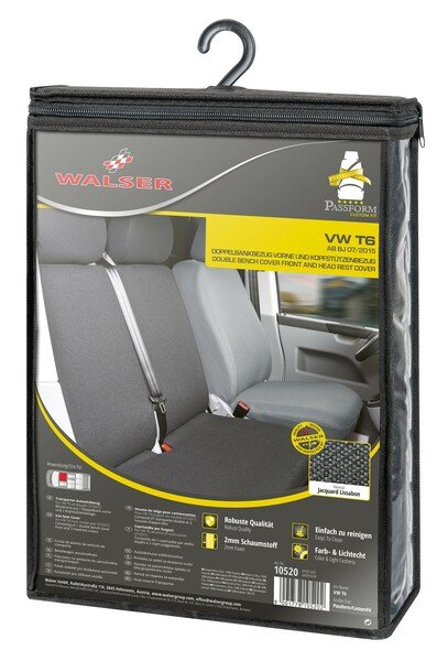 Car Seat covers for VW T6 double bench front in fabric from 07/2015 - today