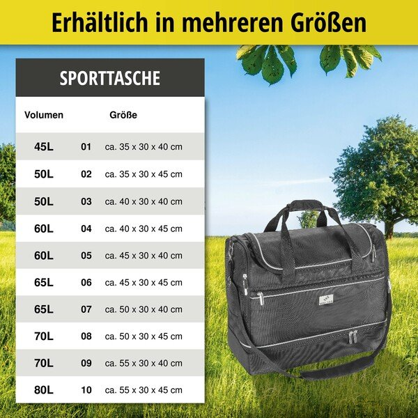 Carbags Sporttasche 55x30x40cm schwarz