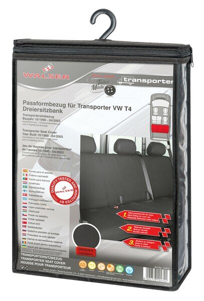 Autoschonbezug Transporter aus Stoff für VW T4, 3er Bank