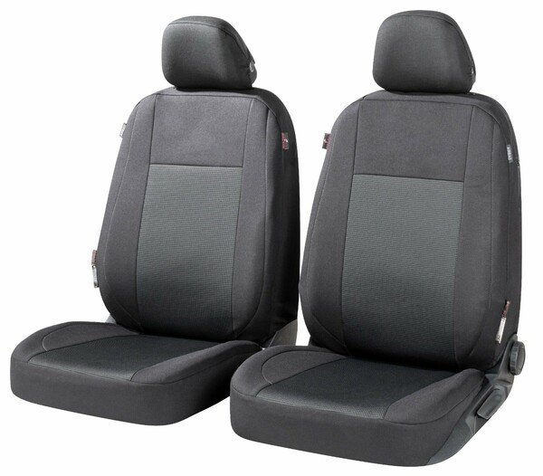 ZIPP IT Premium Car seat covers Ardwell for two front seats with zip-system black/grey