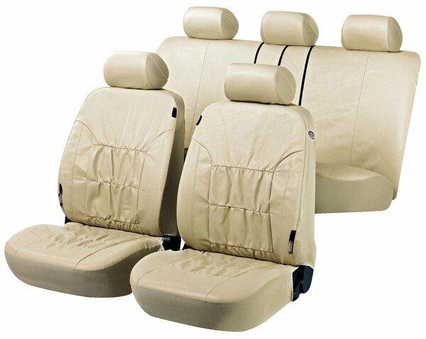Autositzbezüge Nappa Touch beige aus Kunstleder