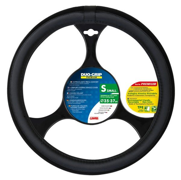 steering wheel cover Duo Grip black size S 35-37 cm