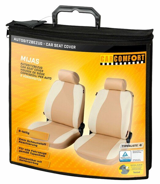 Car Seat cover Mijas beige for two front seats