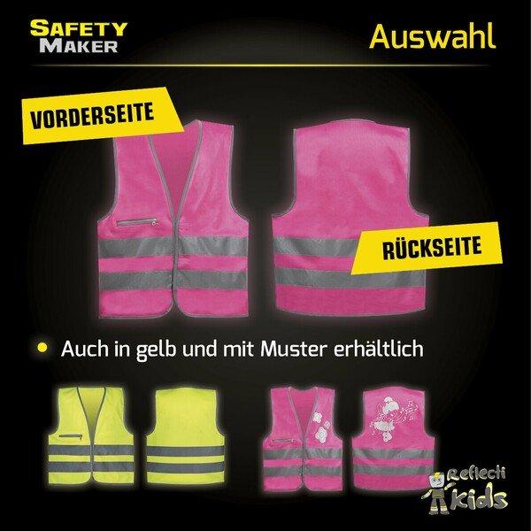 Sicherheitsweste 3-6 Jahre pink