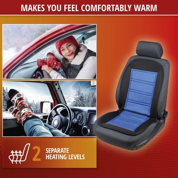 Heating Pad, Seat Heating Car Seat Warm Up black-blue