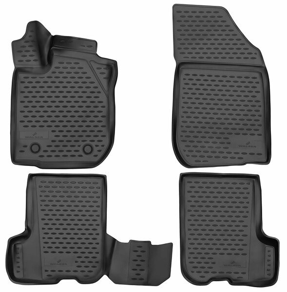 XTR rubber mats for Dacia Sandero II year 10/2012 - Facelift 2017
