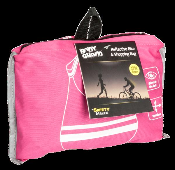 Foldable shopping bag pink