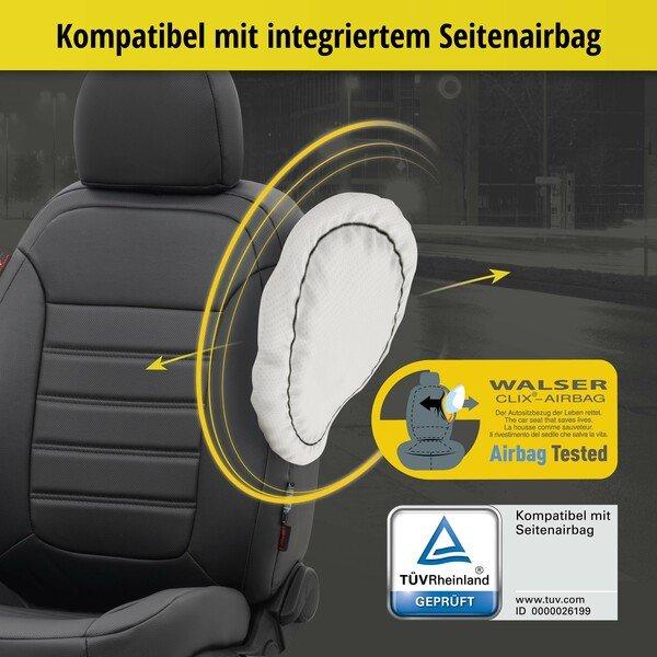 Passform Sitzbezug Robusto für Skoda Fabia Baujahr 08/2014 - Heute, 2 Einzelsitzbezüge für Normalsitze