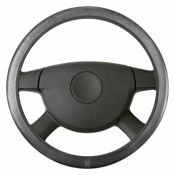 Steering wheel cover Soft Grip Carbon - 38 cm black