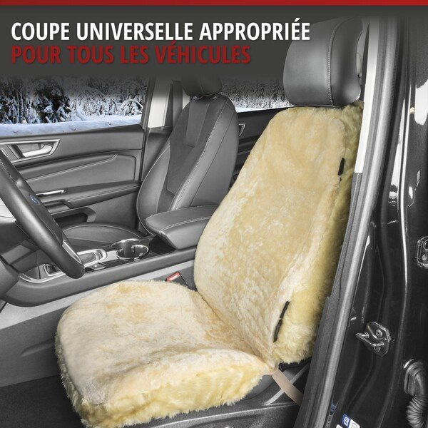 Housses de sièges Monette en agneau beige avec système informatique ZIPP